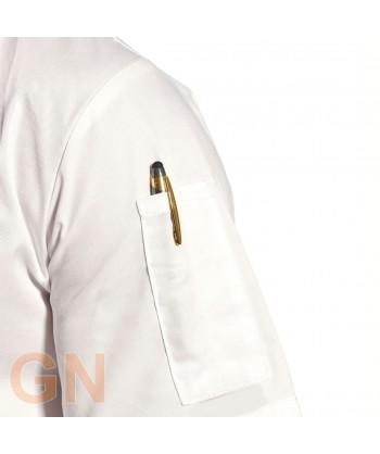 Chaqueta unisex de cocina con cierre de botones chupete