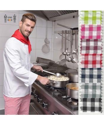 Pantalón unisex de cocina de vichy cuadritos