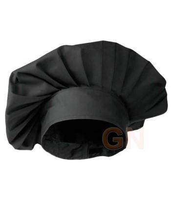 Gorro chef champiñón color negro