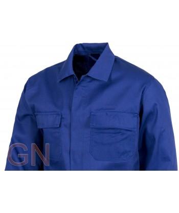 Cazadora con cierre de botones color azulina