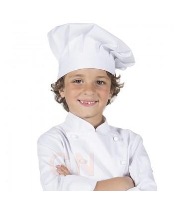 Gorro chef champiñón infantil a juego con chaqueta