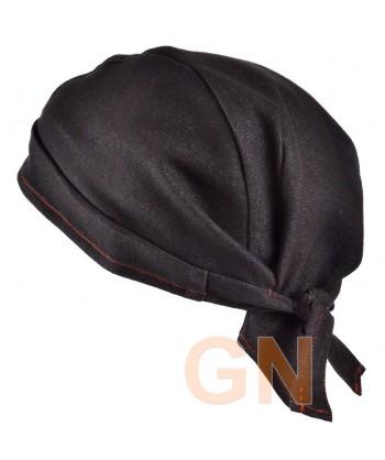 Gorro bandana de cocina color negro