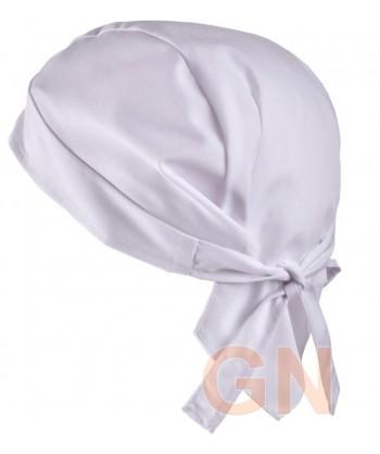Gorro bandana de cocina color blanco