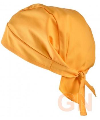 Gorro bandana de cocina color mostaza