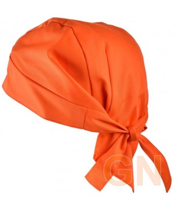 Gorro bandana de cocina color naranja