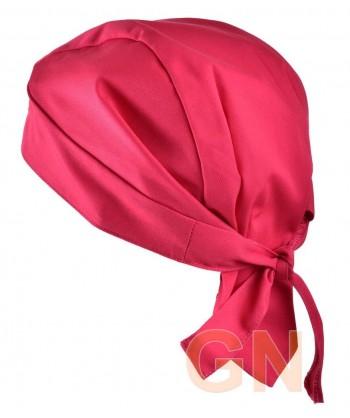 Gorro bandana de cocina color fucsia
