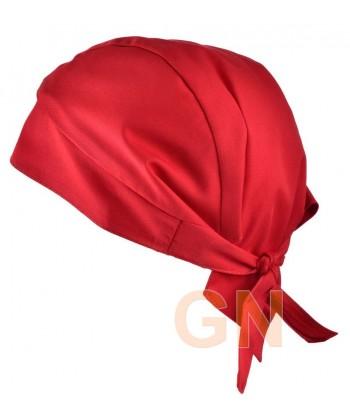 Gorro bandana de cocina color rojo