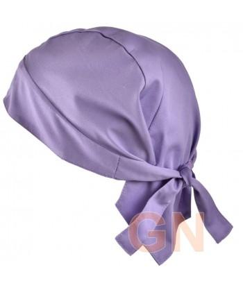 Gorro bandana de cocina color violeta