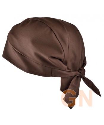 Gorro bandana de cocina color marrón
