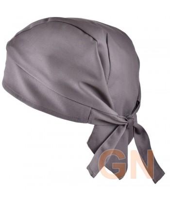 Gorro bandana de cocina color gris