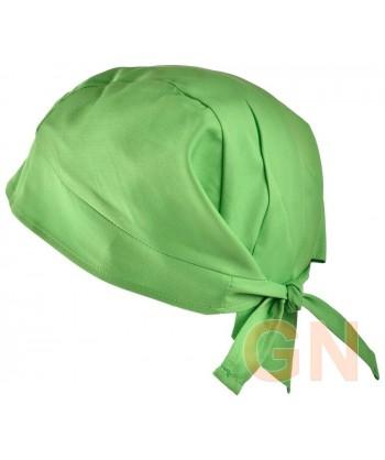 Gorro bandana de cocina color verde manzana