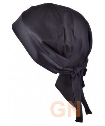 Gorro bandana de cocina color vaquero negro