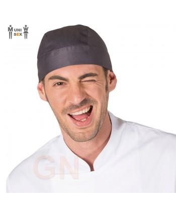 Gorro unisex tipo bandana o pirata para cocina gris marengo
