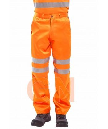 Pantalón monocolor naranja alta visibilidad. Portwest RT45