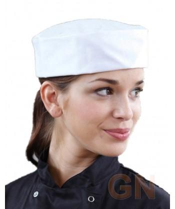 Gorro de cocina unisex color blanco