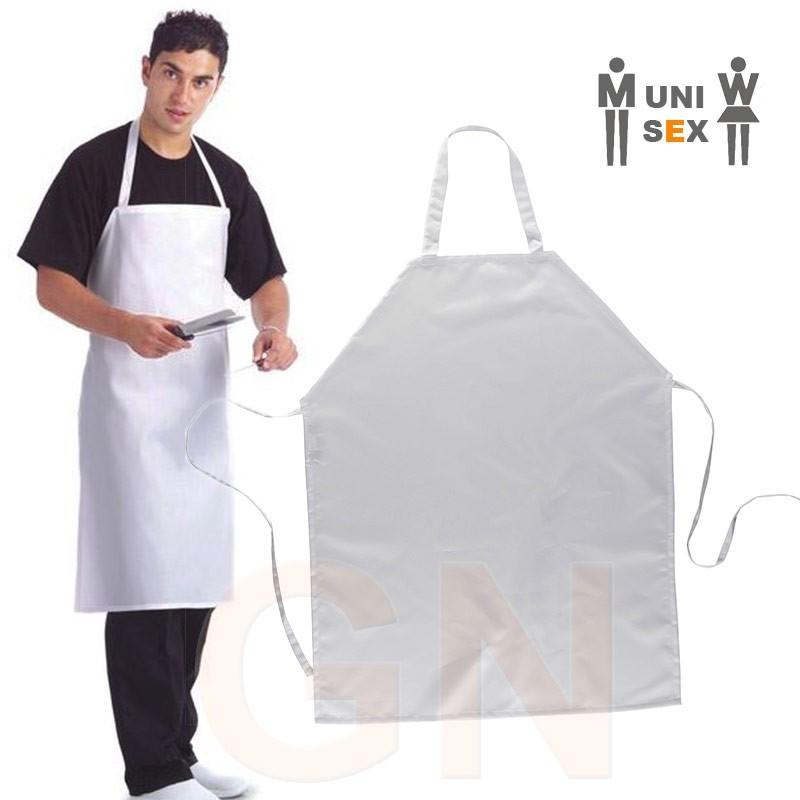 Delantal de cocina con peto color blanco