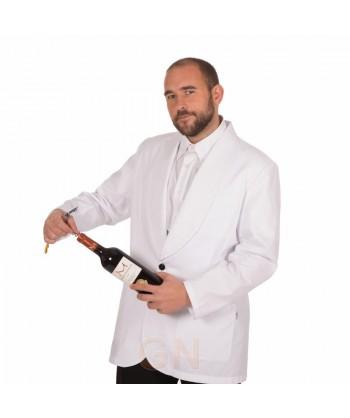 Chaqueta smoking de hostelería para hombre color blanco