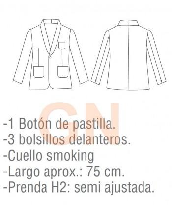 Chaqueta smoking de hostelería para hombre