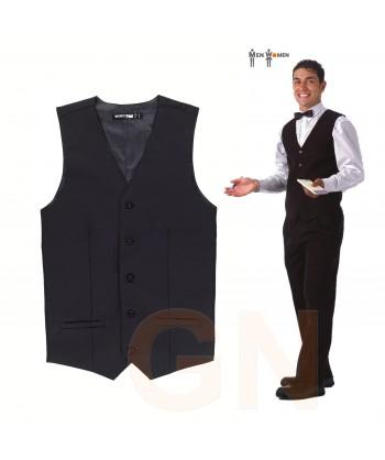 Chaleco económico de camarero color negro para hostelería