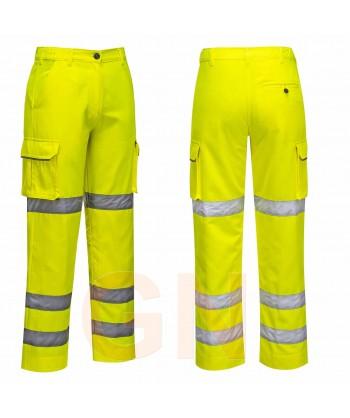 Pantalón alta visibilidad para mujer amarillo A.V.