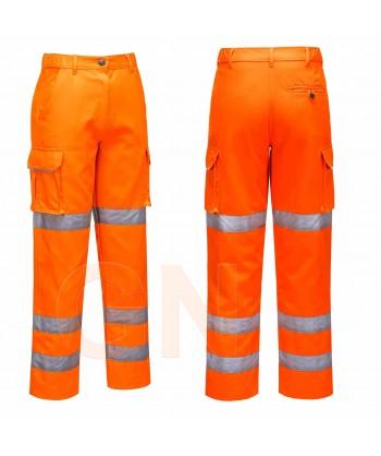 Pantalón alta visibilidad para mujer naranja flúor