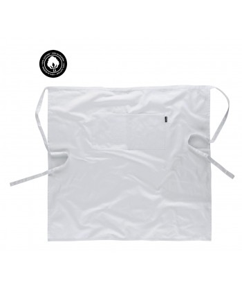 Delantal francés largo de algodón color blanco