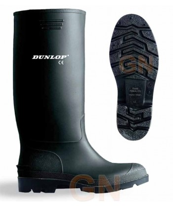 Bota de agua antideslizante de Dunlop sin seguridad