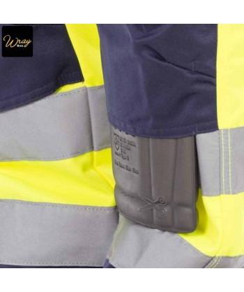 Pantalón bicolor con tejido antimanchas amarillo alta visibilidad / marino Portwest TX51
