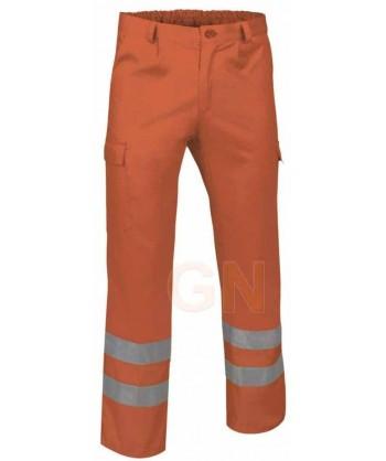Pantalón multibolsillos alta visibilidad naranja A.V.