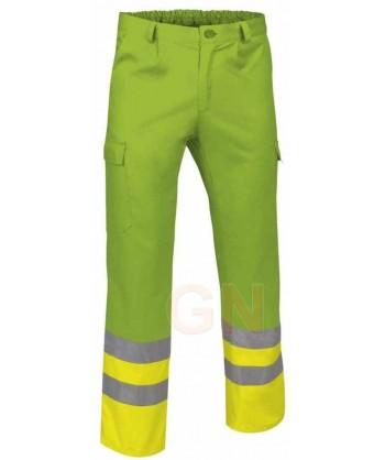 Pantalón multibolsillos alta visibilidad verde manzana/amarillo A.V.