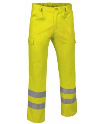 Pantalón multibolsillos alta visibilidad amarillo A.V.
