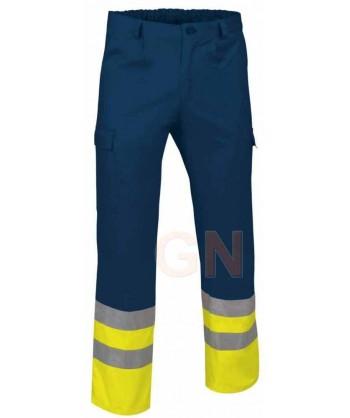 Pantalón multibolsillos alta visibilidad marino/amarillo A.V.