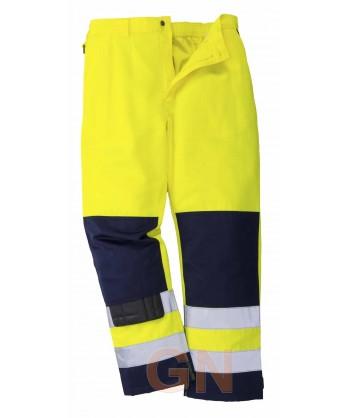 Pantalón bicolor marino y amarillo alta visibilidad Portwest TX71