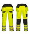 Pantalón bicolor triples costuras y refuerzos en rodillas amarillo A.V./negro