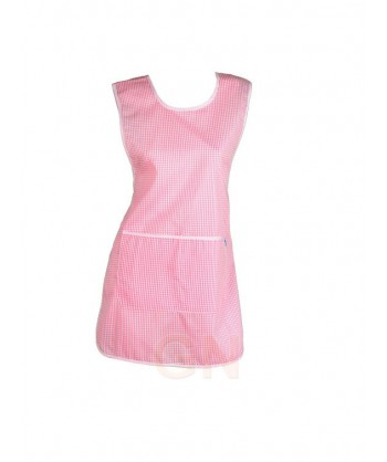 Casulla con bolsillos de vichy cuadritos rosas