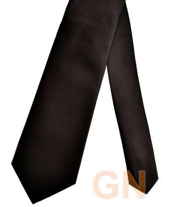 Corbata microfibra color negro