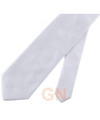 Corbata microfibra color blanca