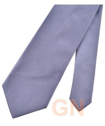 Corbata microfibra color gris