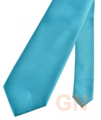 Corbata microfibra color turquesa