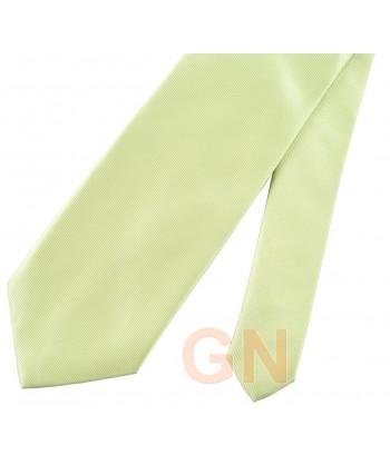Corbata microfibra color kiwi