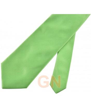 Corbata microfibra color verde manzana