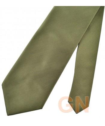 Corbata microfibra color verde junco