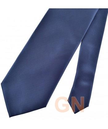Corbata microfibra color marino