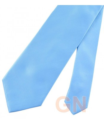 Corbata microfibra color celeste