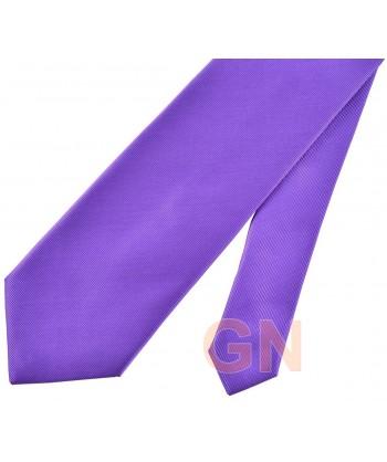 Corbata microfibra color violeta