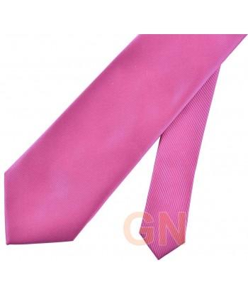 Corbata microfibra color rosa