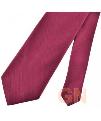 Corbata microfibra color granate