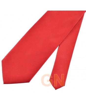 Corbata microfibra color rojo
