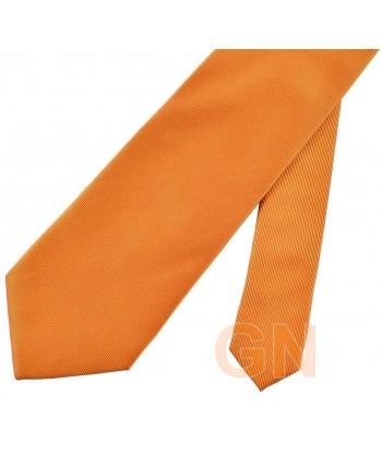 Corbata microfibra color naranja