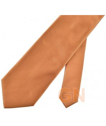 Corbata microfibra color cobre